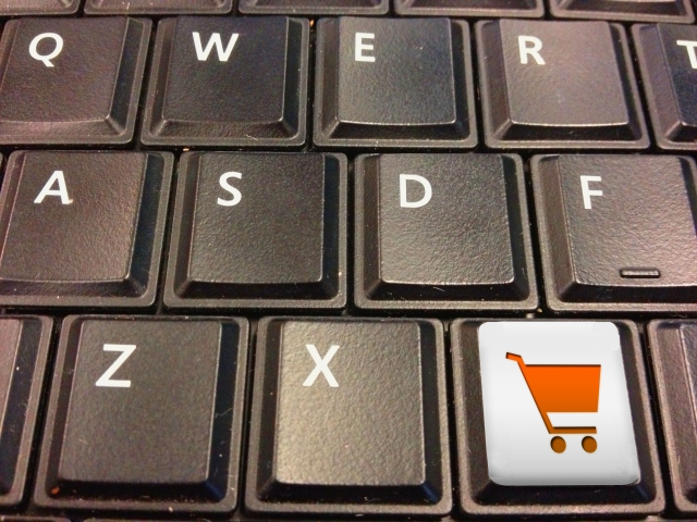 keyboard with shopping cart